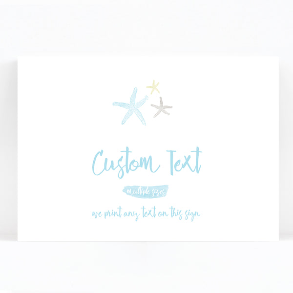 Estrella Custom Wedding Sign / Print