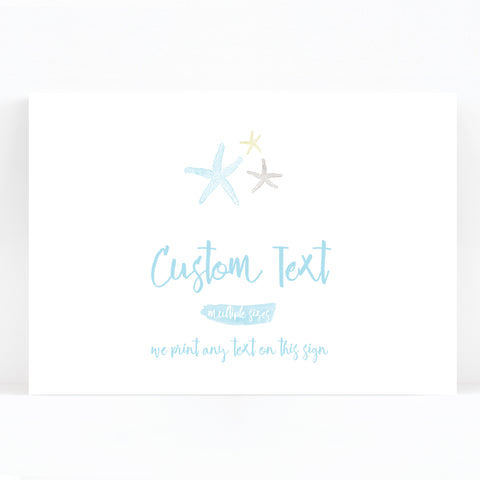 Estrella Beach Blue Wedding Sign