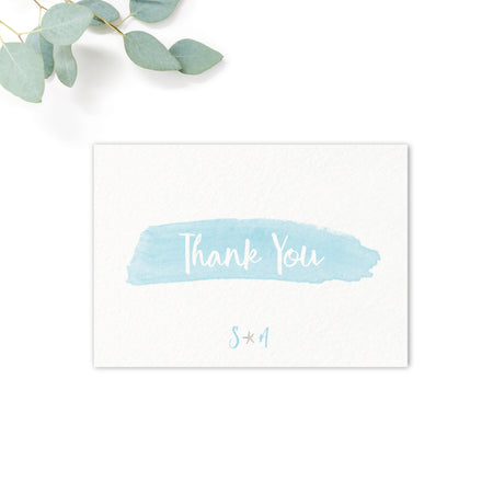 Estrella Beach Blue Wedding Thank You Card
