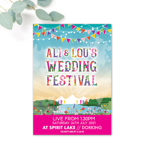 Festival Personalised Wedding Invitation Booklet