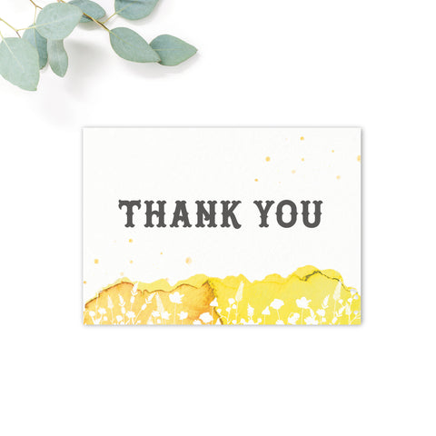 Festival Personalised Wedding Thank You Card