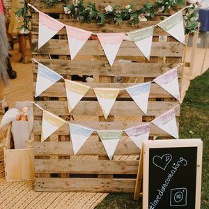 Festival Personalised Wedding Table / Seating Plan Bunting