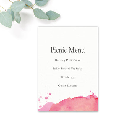 Festival Personalised Wedding Picnic BBQ Menu