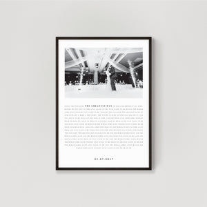 First Dance Lyrics Print - 1st Wedding Anniversary Gift