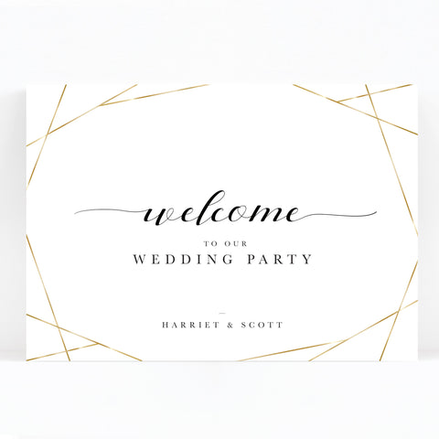 Geo Wedding Welcome Sign