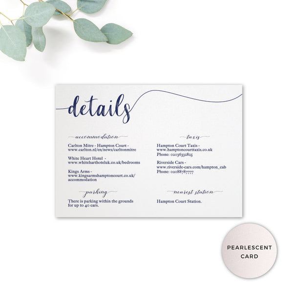 Hampton Navy Blue Details Card