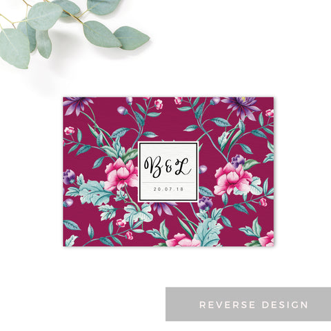 Hana Pink Floral Save the Date