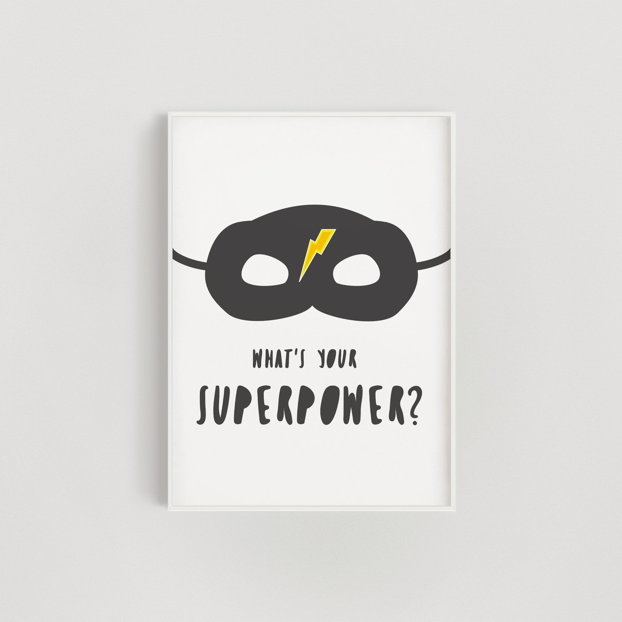 Lightning Superhero Superpower Kids Print