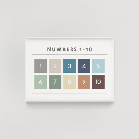 Numbers 1-10 Kids Educational Print