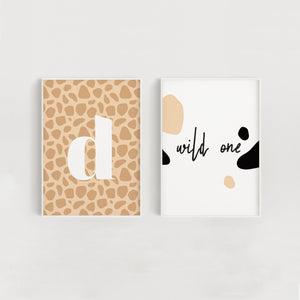 Wild One Set of Two Nursery + Kids Prints - Giraffe