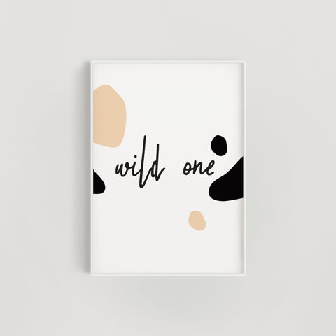 Wild One Nursery + Kids Print - Beige / Brown