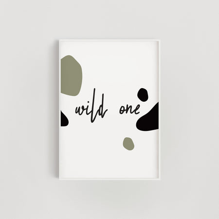 Wild One Nursery + Kids Print - Green