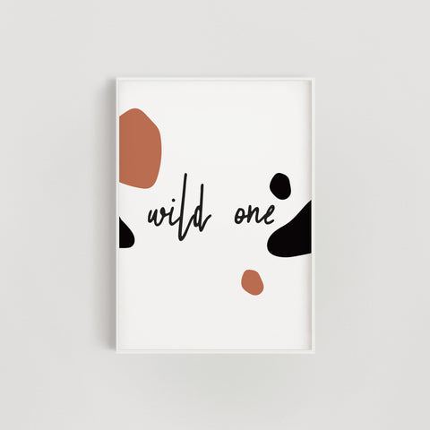Wild One Nursery + Kids Print - Orange