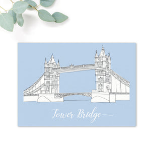 London Landmarks Illustrated Wedding Table Names