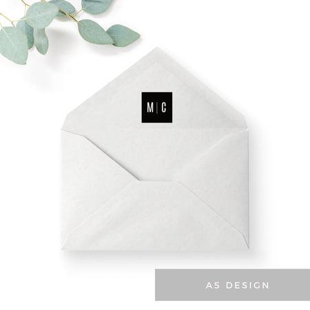 Manhattan Monochrome Monogram Wedding Invitation Suite
