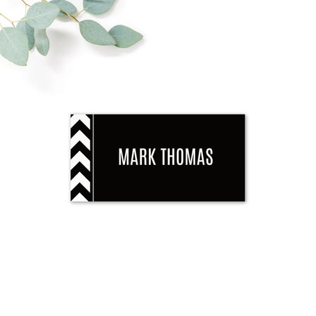 Manhattan Black and White Personalised Place card