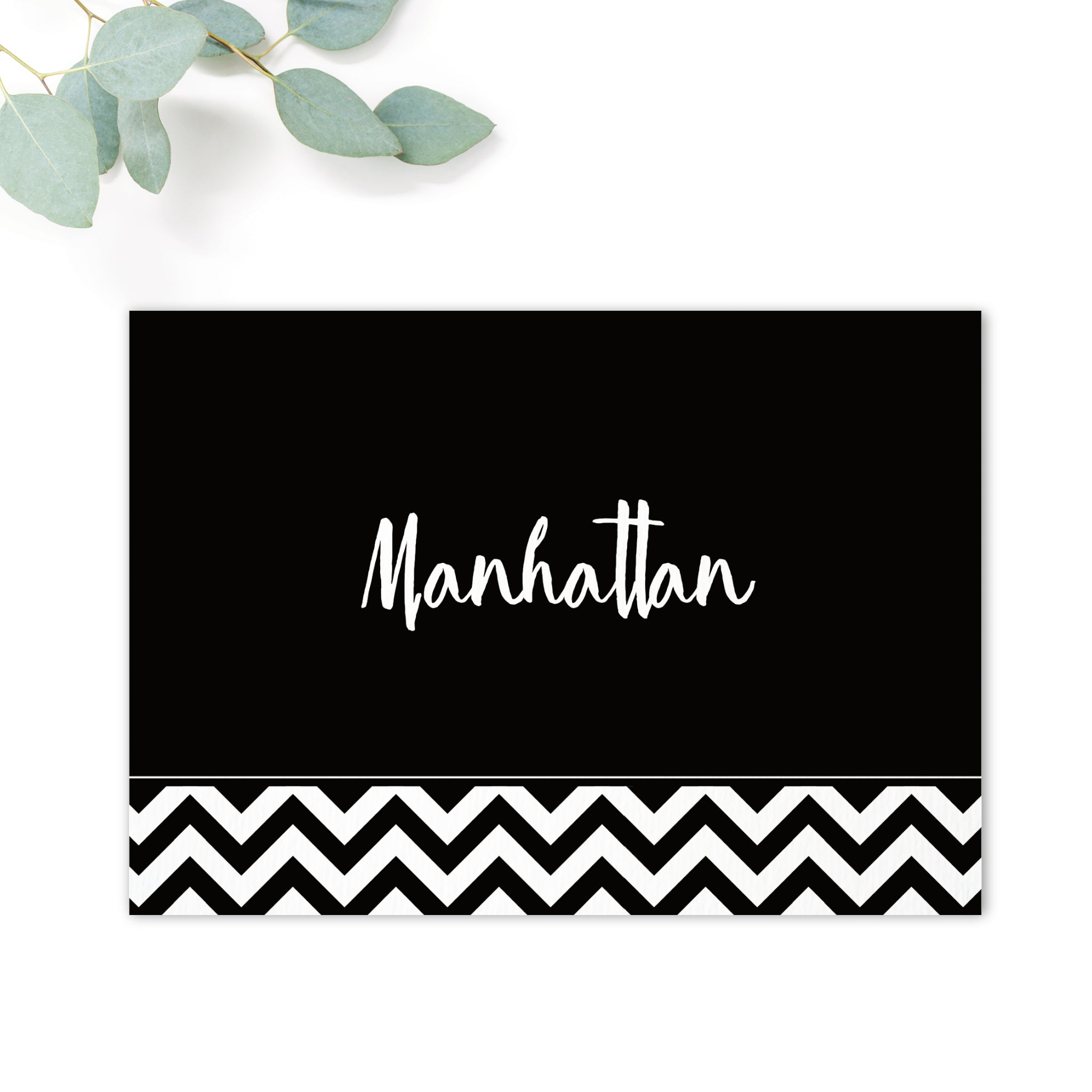 Manhattan Black and White Table Names