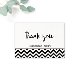 Manhattan Black and White Thank You Card