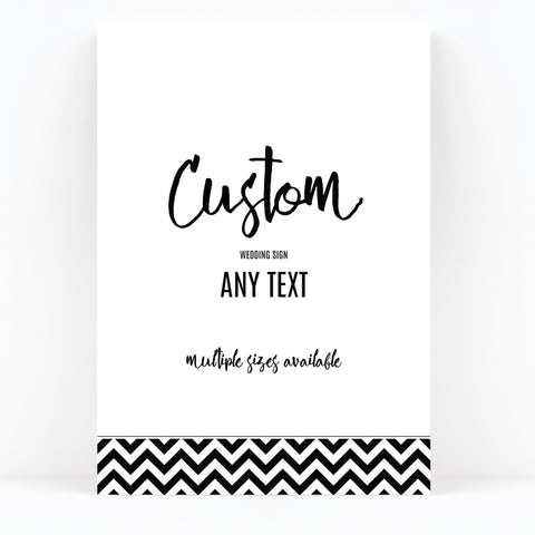 Manhattan Black and White Wedding Sign