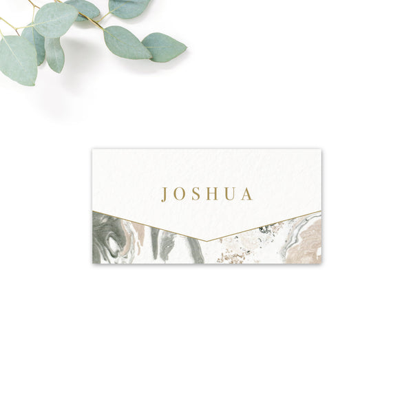 Marble Personalised Place Cards