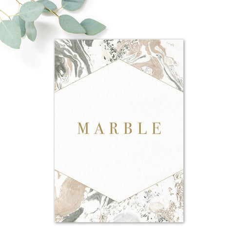 Marble Wedding Table Names