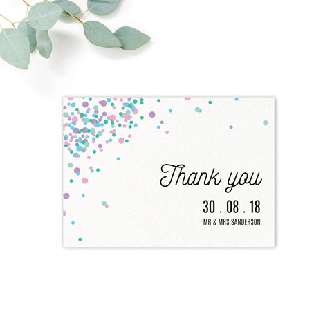 Melbourne Confetti Wedding Thank You Card
