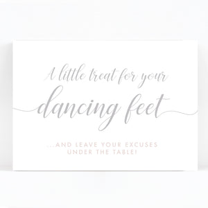 Millbridge  Flip Flop Dancing Shoes Wedding Sign / Print