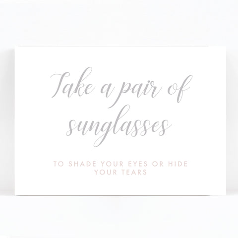 Millbridge Wedding Sunglasses Sign / Print