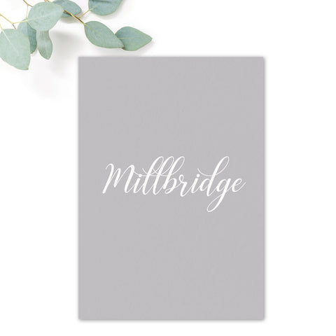 Millbridge Wedding Table Names
