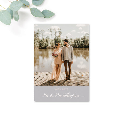 Millbridge Personalised Wedding Photo Thank You Card