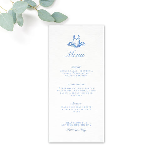 Montpellier Wedding Menus