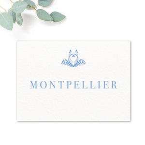 Montpellier Blue Wedding Table Names