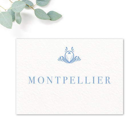 Montpellier Wedding Table Names
