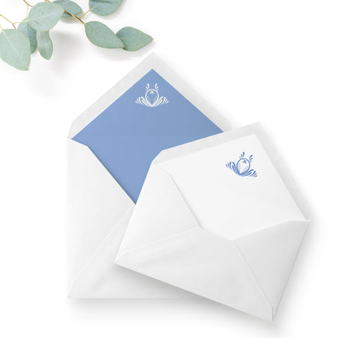 Montpellier Dusky Powder Blue Wedding Envelope Liner