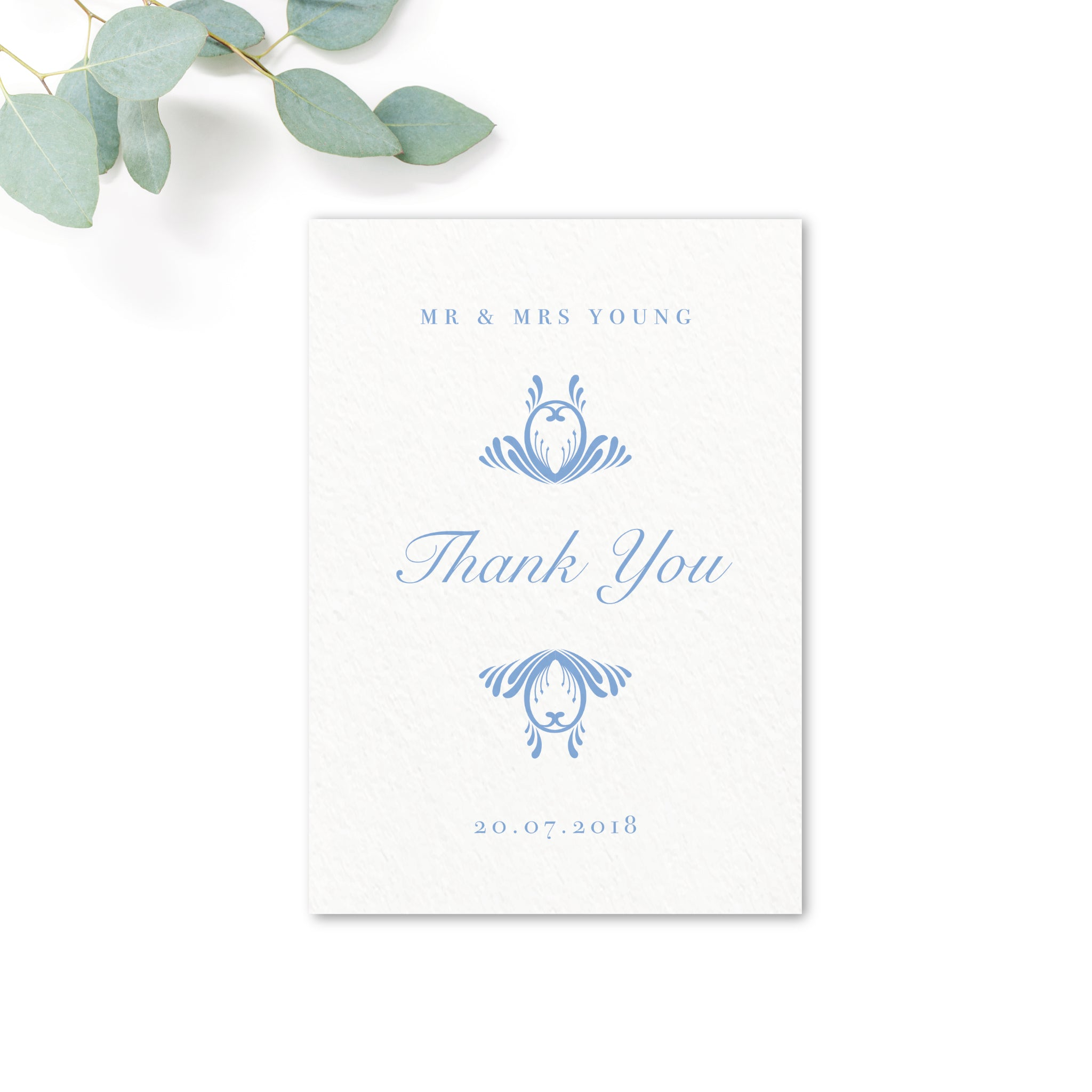 Montpellier Blue Thank You Card