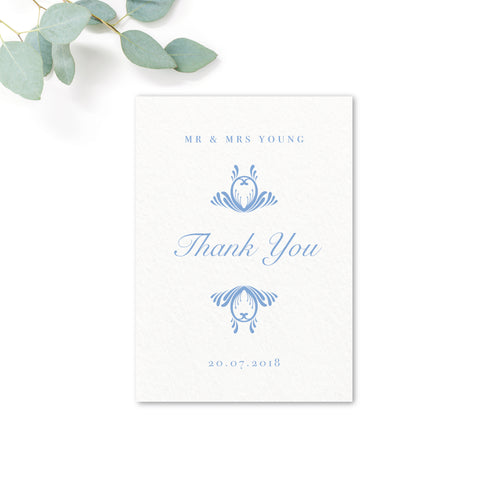 Montpellier Personalised Wedding Thank You Card