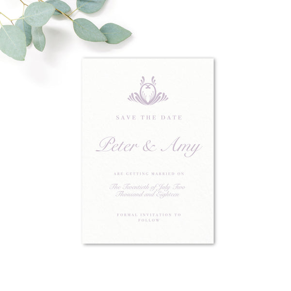 Montpellier Lavender Lilac Elegant Square Wedding Save the Date