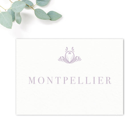 Montpellier Lavender Lilac Elegant Wedding table names