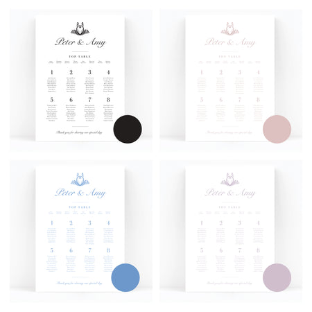 Montpellier Wedding Table / Seating Plan