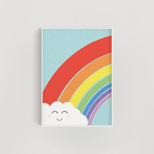 Rainbow Sprinkles Cloud Nursery + Kids Print