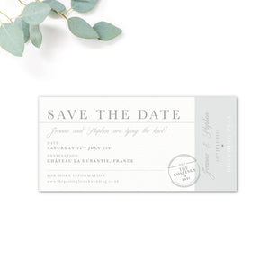 Destination Personalised Save the Date Boarding Pass