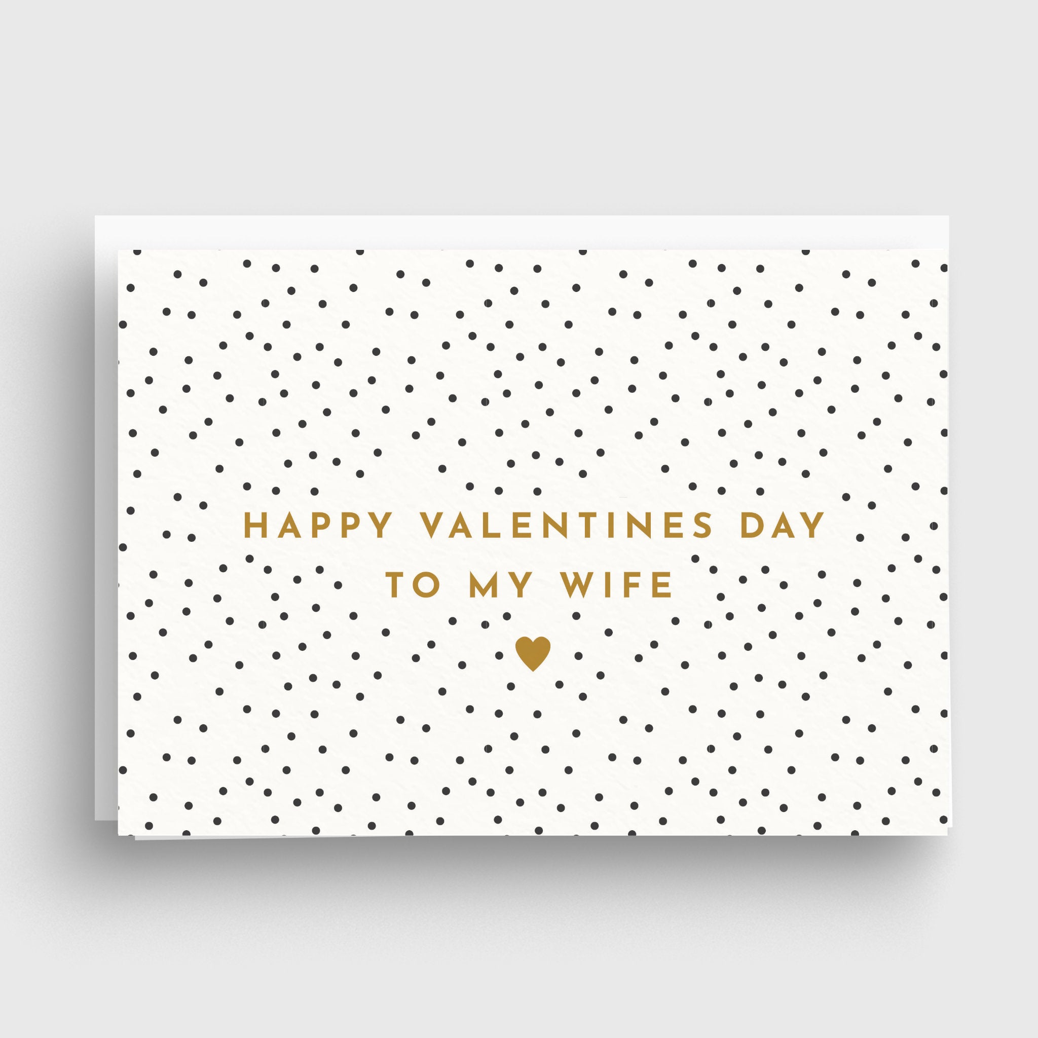 Polka Dot Personalised Valentines Card