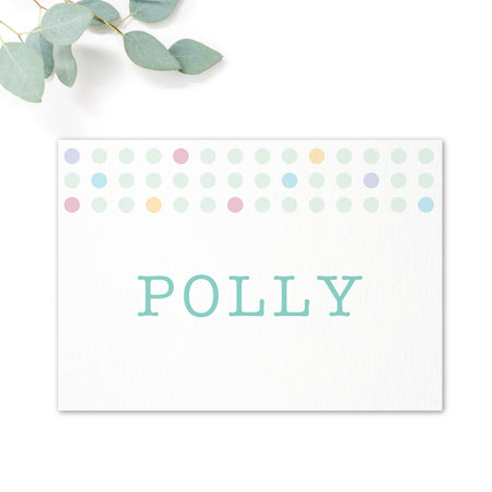 Polly Polka Dot Wedding Table Names