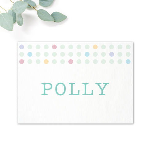Polly Wedding Table Names
