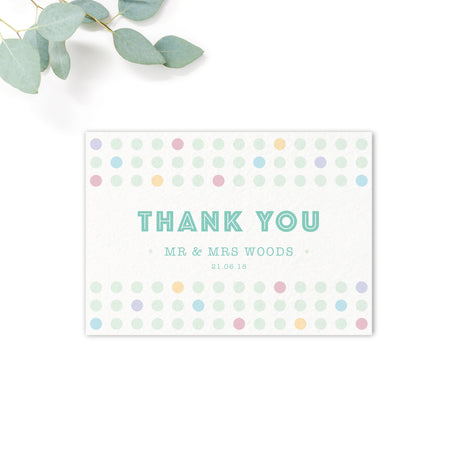 Polly Polka Dot Wedding Thank You Card