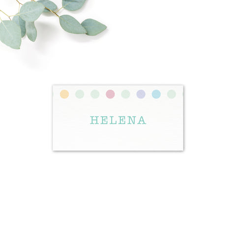 Polly Polka Dot Personalised Place Cards