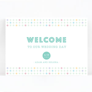 Polly Wedding Welcome Sign
