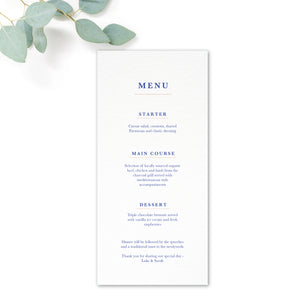 Porto Patterned Tile Wedding Menu