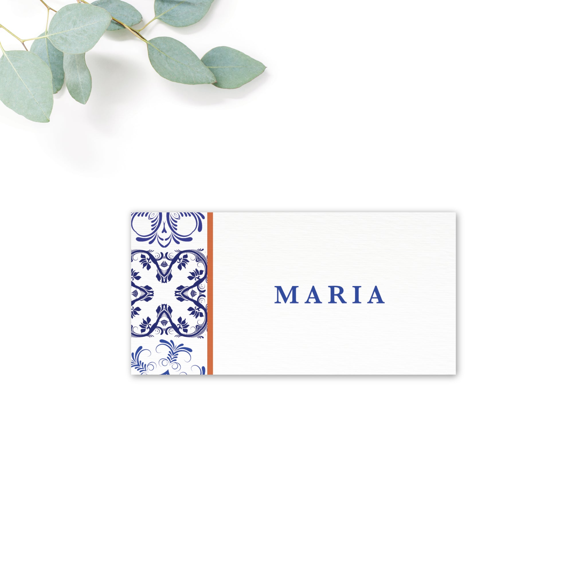 Porto Patterned Tile Personalised Place Cards