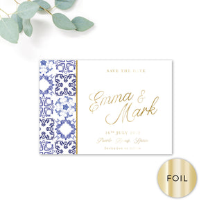 Porto Gold Foiled Personalised Save the Date